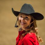 Amber Marshall arrives at the Royal Winter Fair in Toronto