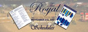 The Royal Agricultural Winter Fair schedule